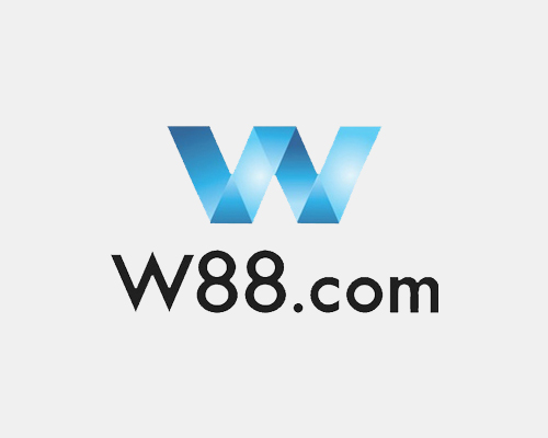 W88 logo in grey background